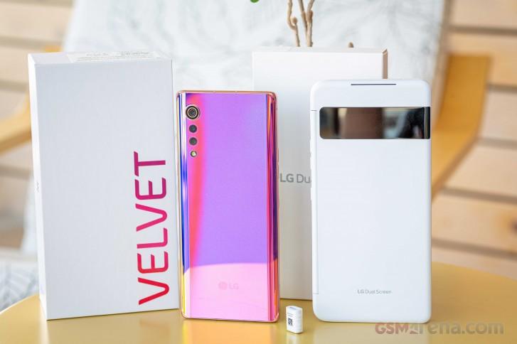 LG Velvet Dual Screen in for review