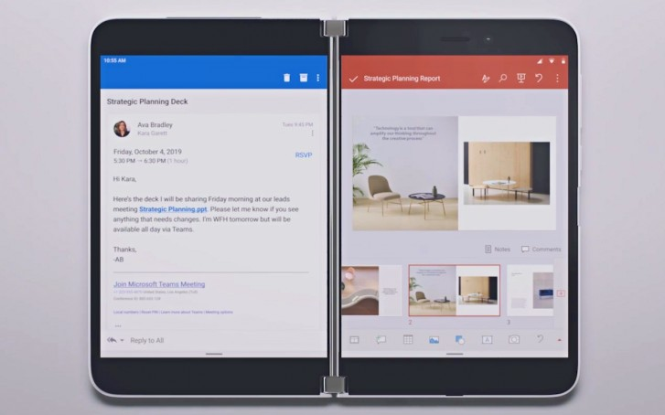 You'll be able to open Outlook and PowerPoint with a single tap.
