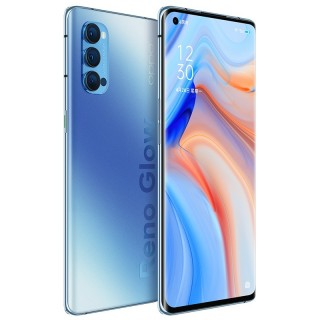 Oppo Reno4 Pro in Crystal Red and Blue