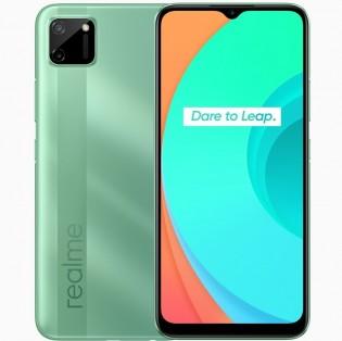 Realme C11 dalam warna Mint Green