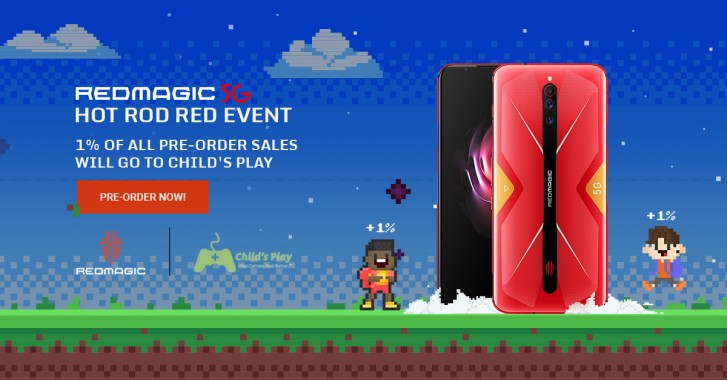 Red Magic 5G Hot Rod Red edition goes on pre-order with a mission of charity
