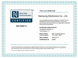Samsung Galaxy Note20 lineup bags NFC certification