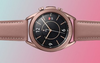 Here's the 41mm Samsung Galaxy Watch3 in Bronze