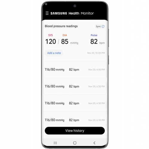 Samsung Health Monitor App launched with blood pressure monitoring