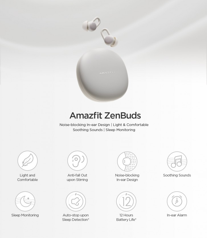 Amazfit ZenBuds now on Indiegogo - a pair of noise isolating earbuds that help you sleep and focus