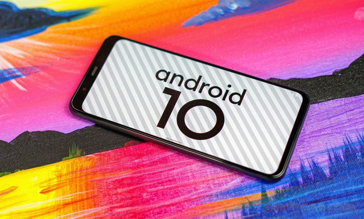 Google Pixel 4 XL running Android 10