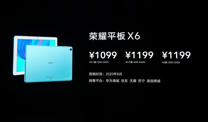 Honor Tablet 6 and X6 go official in China