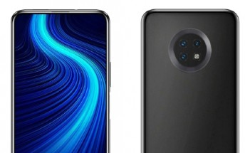 Huawei Enjoy 20 render shows round camera setup and pop-up selfie camera
