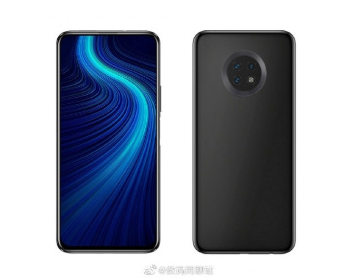 Huawei Enjoy 20 render shows round camera setup and pop-up selfie camera