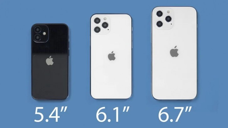 The two 6.1-inch iPhone 12 will launch first, 5.4'' and 6.7'' to follow