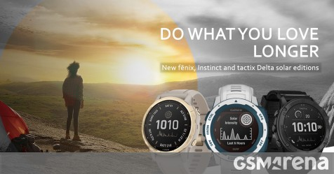 Garmin launches solar edition of smartwatches