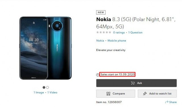 Nokia 8.3 5G Will Be Available In September In Switzerland gsmarena 003