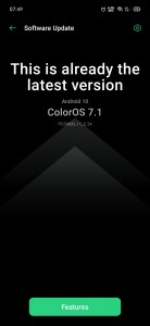The ColorOS 7.1 update that enables video recording with all three cameras