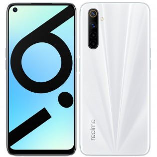 Realme 6i in Lunar White color