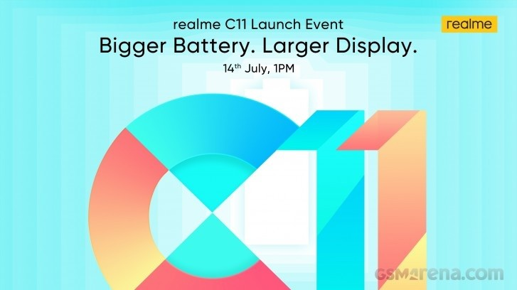 Realme C11 India launch set for July 14