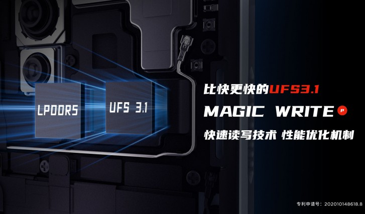 Red Magic 5S will come with UFS 3.1 memory and LPDDR5 RAM