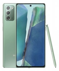 Samsung Galaxy Note20 in Mystic Green color