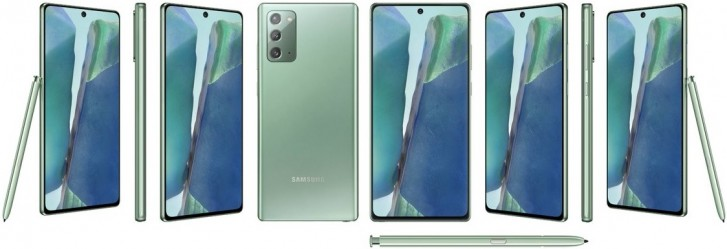 Samsung Galaxy Note20 appears in Mystic Green color