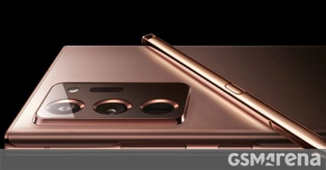 """Samsung leaked the Galaxy Note20 Ultra in """"Mystic Bronze"""""""