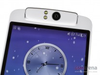 The swivel holds both the earpiece (on the front) and the 13 MP camera (on the back)