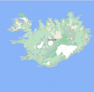 Google Map of Iceland: Old (left), new (right)