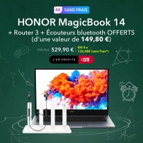 Honor MagicBook 14 bundle for France