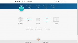 Honor Router 3 web manager