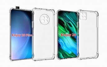 Huawei Enjoy 20 case renders suggest there will also be a Plus version of the handset, with a pop-up camera