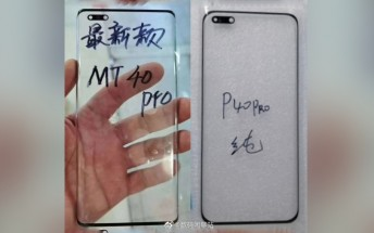 Huawei Mate40 Pro display glass points to smaller punch hole