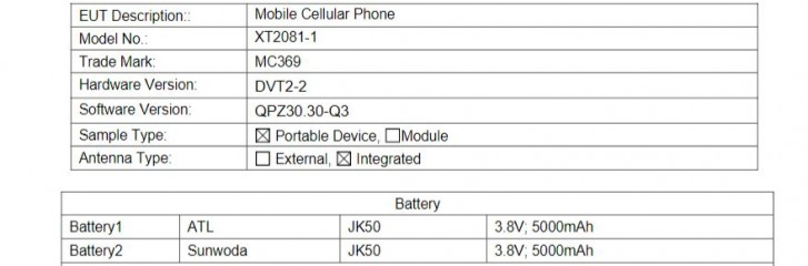 Moto E7 gets certified with 5,000 mAh battery, 10W charger