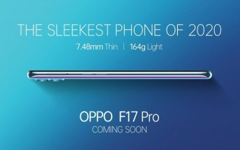 Oppo F17 Pro is coming soon as the 'sleekest phone of 2020' under INR25,000