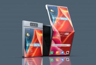 Rendus 3D basés sur un brevet Oppo pour un téléphone pliable