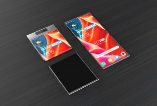 3D renders based on an Oppo patent for a foldable phone