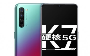 Oppo K7 5G goes official with a Snapdragon 765G SoC and 48MP quad camera