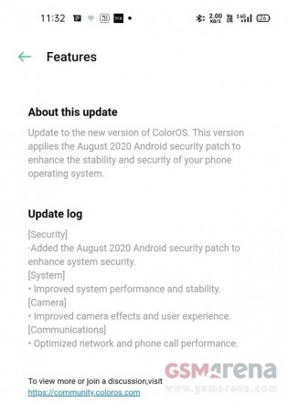 Oppo Reno4 Pro software update