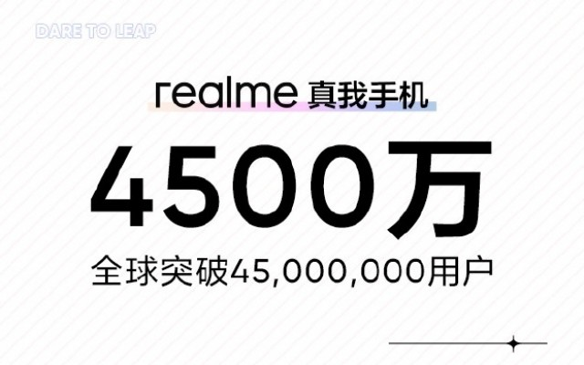 The milestone announcement in Chinese