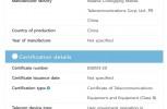 Realme RMX2189 certifications