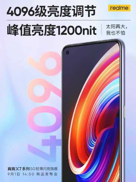 Realme X7 series will pack a punch hole display with 1,200 nits brightness