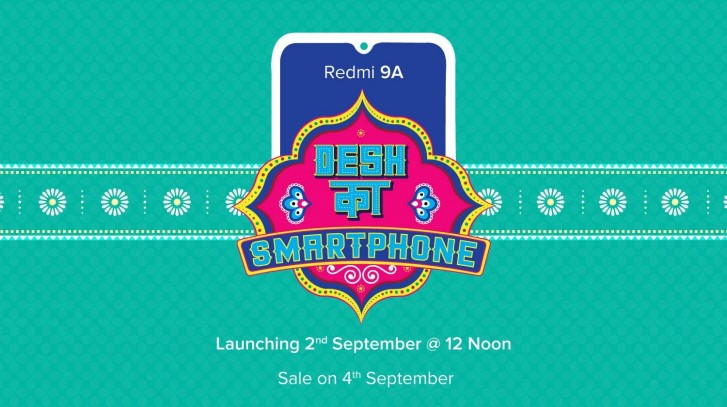 Redmi 9A launching in India on September 2 alongside new wired earphones