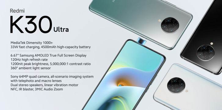 Redmi K30 Ultra brings 120Hz refresh rate and Dimensity 1000+ chipset