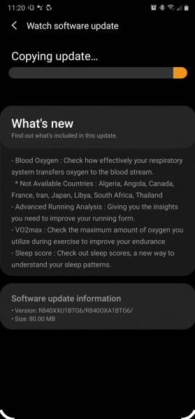 Samsung Galaxy Watch3 gets VO2 Max and blood oxygen monitoring with first software update