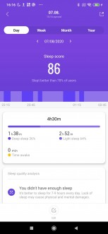 Xiaomi Mi Smart Band 4 screenshots