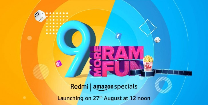 Xiaomi Redmi 9 teased on Amazon India with more RAM for August 27