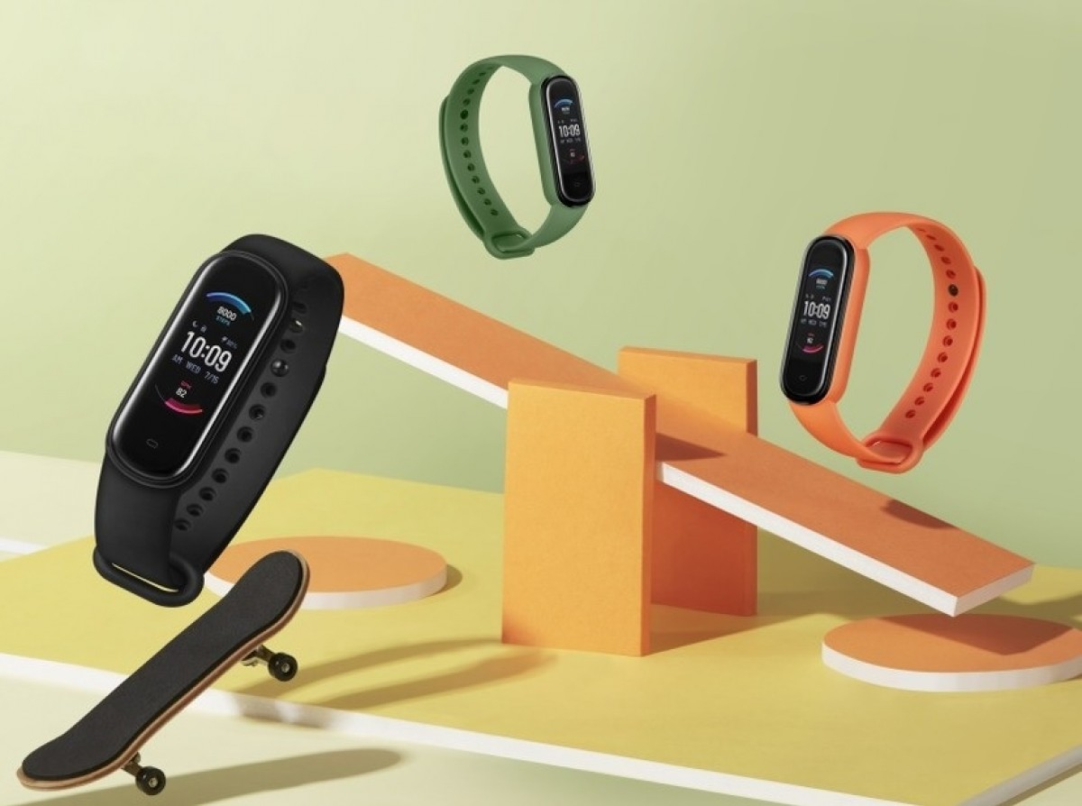 Amazfit Band 5 announced with an AMOLED screen, blood oxygen monitor, and Amazon Alexa support