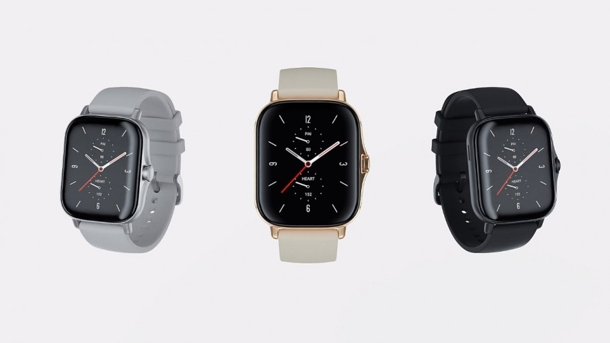 Amazfit GTS 2 in Grey, Gold, and Black colors