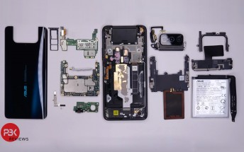 Asus Zenfone 7 Pro disassembly video shows a new flip-up camera design