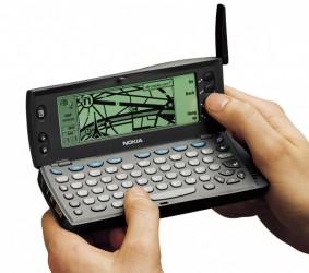 """Nokia 9110i Communicator (<a href=""""https://en.wikipedia.org/wiki/Nokia_9000_Communicator#/media/File:Nokia-9110-2.jpg"""" target=""""_blank"""" rel=""""noopener noreferrer"""">image credit</a>)"""