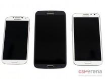 Galaxy S4 (left), Galaxy Mega 6.3 (center) Galaxy Note II (right)
