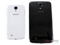 Galaxy S4 (слева), Galaxy Mega 6.3 (в центре), Galaxy Note II (справа)