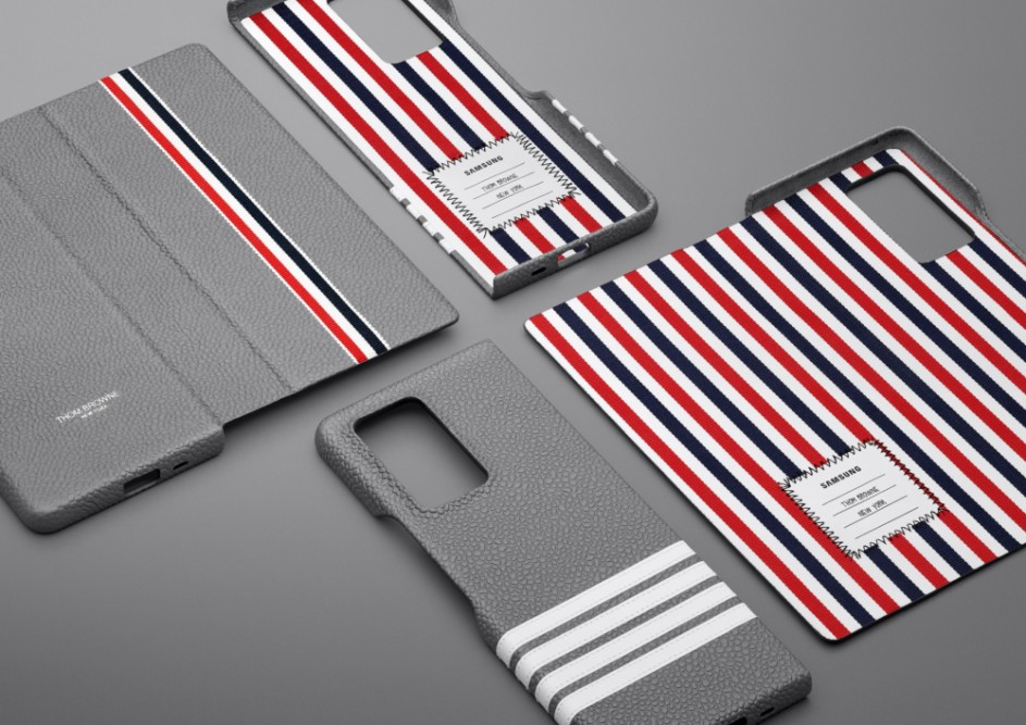 Samsung Galaxy Z Fold2 Thom Browne Edition And Bespoke Accessories Presented On Video Gsmarena Com News
